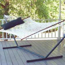 Hurry up with a hammock and busy being lazy