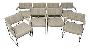Thayer Coggin Sofa Sectional by Milo Baughman For Thayer Coggin 1188 Chrome Dining Chairs Set Of