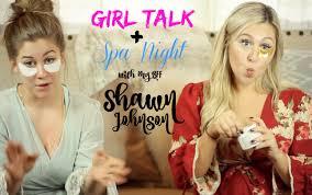 Girl Talk Spa Night With My BFF Shawn Johnson