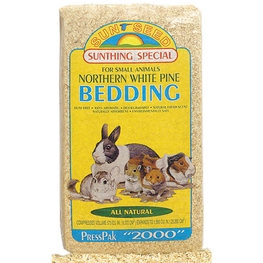 Sunseed Pine Small Animal Bedding Presspack - 1200 Cubic Inch
