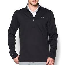under armour mens ua elemental half zip golf pullover thermal top