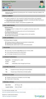 Sample Resume Of Banking Professional New Samples Fresh Free Cv Format