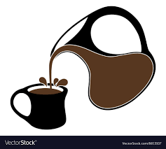 Coffee Pouring From A Jug Into Cup Vector Image