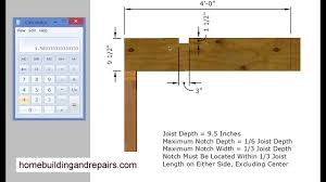 Ceiling Joist Span Tables by How To Calculate Floor Joist Notch And Hole Sizes U2013 Construction
