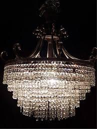 Swarovski Crystal Lamp Finials by Strass Crystal Chandelier Bronze Dore Base 5