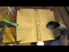 Chair Caning Instructions Youtube by How To Weave Rush Style Seat Using Paper Cord You Can Do This