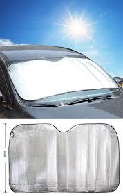 100 Truck Windshield Visor 1pc Silver Foils Window Sun Shade Plate 220x80 Cm Car