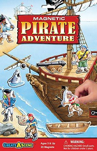 Smethport 7113 Create A Scene Pirate Adventure Magnetic Toys