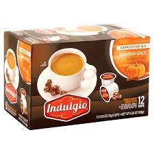 Keurig Pumpkin Spice by Indulgio Pumpkin Spice Cappuccino Mix 0 53 Oz 12 Count Walmart Com