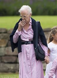 queen margrethe of demark smokes while caring for crown princess
