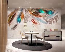 beibehang pfau feder foto tapete wandbild 3d wohnzimmer schlafzimmer wohnkultur wandmalereien 3d tapete papel de parede wandbild