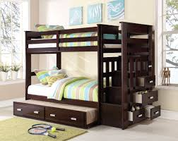 T T BUNK BED WITH & TRUNDLE