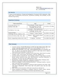 Mechanical Engineer Resume Sample India Production