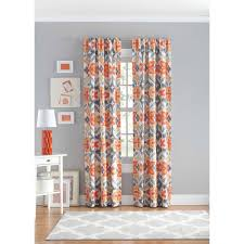 Canopy Bed Curtains Walmart by Your Zone Ikat Bedroom Curtain Panel Walmart Com