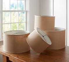Pottery Barn Floor Lamp Shades by Burlap Straight Sided Drum Lamp Shade Pottery Barn