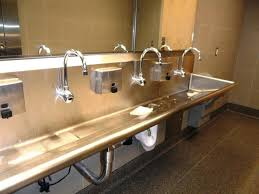 Double Faucet Trough Sink Vanity by Sinks Double Faucet Trough Sink Kohler Wall Mounted Bathroom