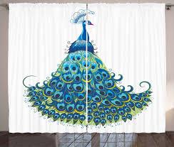 gardine schlafzimmer kräuselband vorhang mit schlaufen und haken abakuhaus pfau klassische blumen kaufen otto