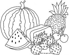 Lovely Idea Printable Coloring Pages Of Fruit And Vegetables Fruits Different Types Page