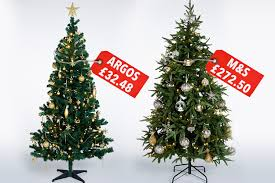 Slimline Christmas Tree Asda by This Christmas Tree From M U0026s Is 273 But Is It Eight Times