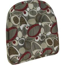 gripper non slip 15 x 16 red circles tufted chair cushion
