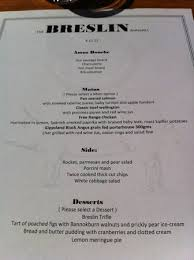 corporate set menu picture of breslin bar grill melbourne