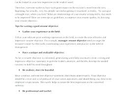 Examples Of Career Objectives On Resume Example Resumes A Good Objective