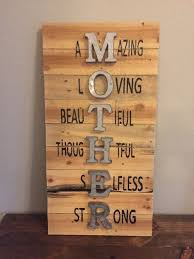 Mother Sign Mothers Day Wall Pallet Wood