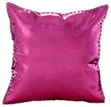 Hot Pink & Gold Spikes Faux Leather Hot Pink Throw Pillows Cover