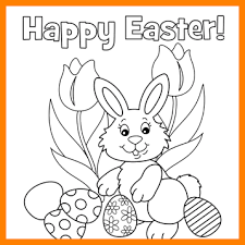 Free Easter Coloring PagesEaster Page Happy