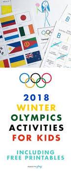 2018 PyeongChang Winter Olympics Activities For Kids