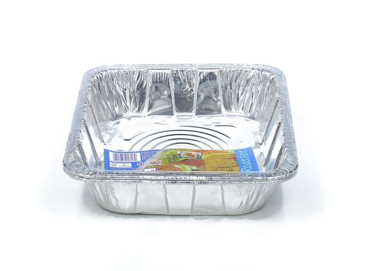 "Hefty EZ Foil 11 3/4 X 9 1/4 X 2 1/2"" Superoaster Roaster Pans 2 Ct"