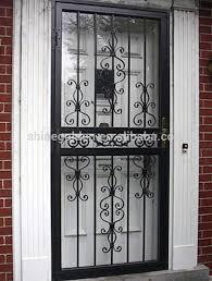 whg14036 moderne en fer forgé portes et fenêtres pour villa longue