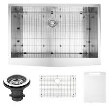 Sink Grid Stainless Steel by Vigo Farmhouse Apron Front Stainless Steel 36 In Single Basin