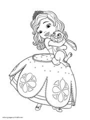 Disney Princesses Sofia Coloring Pages