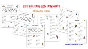 Halloween Math Multiplication Worksheets by Free Halloween Math Worksheets Homeschool Den