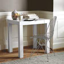 Interior Design Narrow Parsons Desk Drop Front Desk Tar White