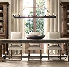 Dinner Room Ideas Dining Lighting Rectangular Best Images On Rooms Rustic Farmhouse