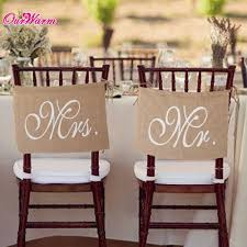 Khaki Mr Mrs Burlap Chair Banner Set Sign Garland Rustic Wedding Party Decoration In DIY Decorations From Home Garden On Aliexpress