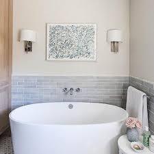 gray brick bathroom backsplash design ideas