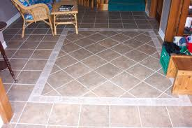 interior terrific floor tile patterns in two different designs