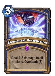 elemental destruction hearthstone wiki