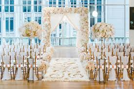 Indoor Flower Petal Aisle Runner Wedding