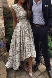Modest Prom Dress Long Elegant Round Neck Lace For Teens Cute Homecoming Dresses Evening