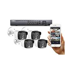 4 CH HD 【3MP】 Security Camera System Remote iPhone Android APP