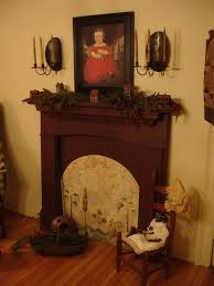 Primitive Decorating Ideas For Fireplace by 97 Best Primitive Faux Fireplaces Images On Pinterest Fireplace