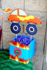 100 Monster Truck Party Decorations MONSTER TRUCK Centerpieces Jam