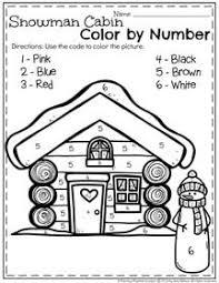 Important Winter Color By Number Worksheets Ultimate Kindergarten Christmas Also Best