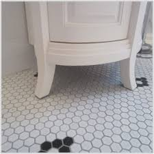black and white hexagon bathroom floor tile tiles home