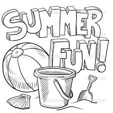 Coloring Pages Free Summer Kids Summertime Within