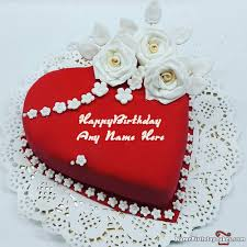 Heart Shaped Birthday Cake For Lover With Name 501